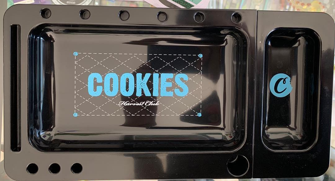 cookies weed rolling tray