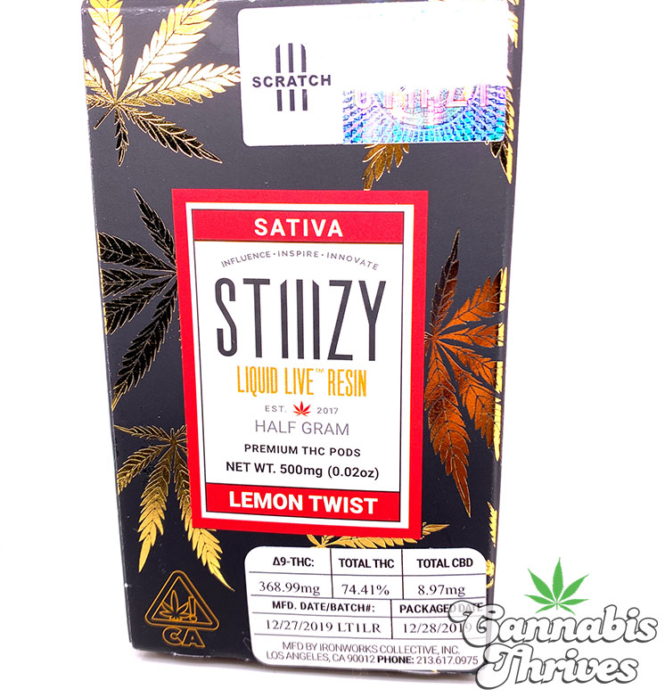 Stiiizy lemon twist box no scratch